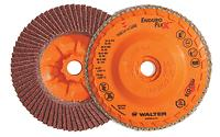 The longest life and highest overall material removal flap disc in the industry