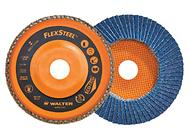 High performance flap disc optimized for use on angle grinders