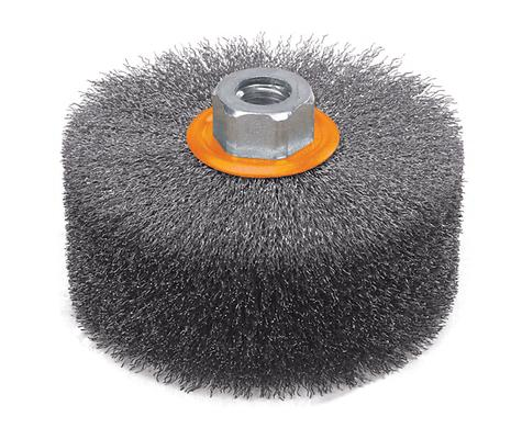Walter Surface Technologies MTD Wire Brush for Cleaning /& DEBURRING 3//4 X .014 CONICAL Max RPM 25,00