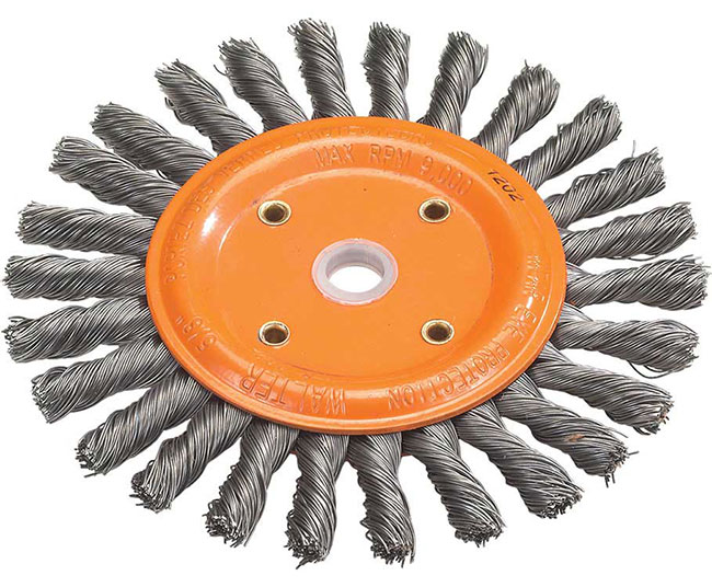 Bench Wheel Brush With Knot Twisted Wires Walter Surface